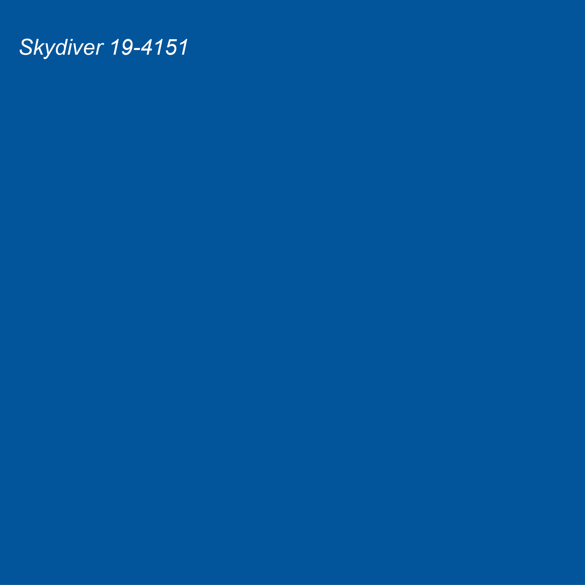 Pantone 2021 Color of the Year Suggested Accent Shade Skydiver 19-4151