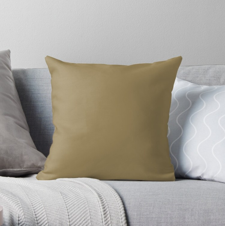 Pantone Fennel Seed 17-0929 Throw Pillow and Home Decor
