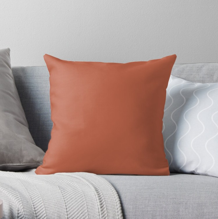 Pantone Spice Route 17-1345 Throw Pillow and Home Decor