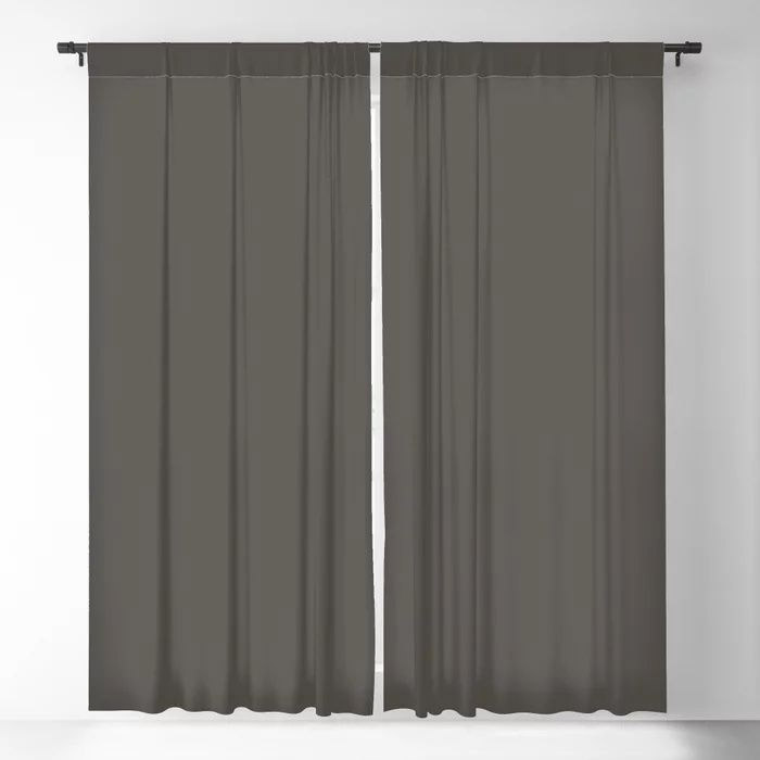 Root Brown Grey Solid Color Sherwin Williams 2021 Color of the Year Urbane Bronze SW 7048 Blackout Curtain