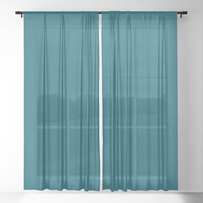 Solid Color Sheer Curtains - Window Treatments
