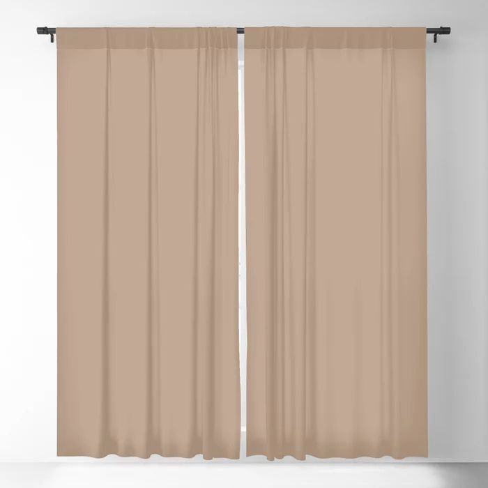 Soft Mid-Tone Beige Solid Color Pairs To Behr's 2021 Trending Color Sierra N240-4 Blackout Curtain