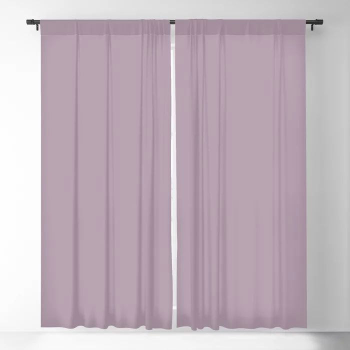 Spring Flowers Purple Solid Color Pairs To Valspars 2021 Color of the Year Dusty Lavender 1002-7C Blackout Curtain