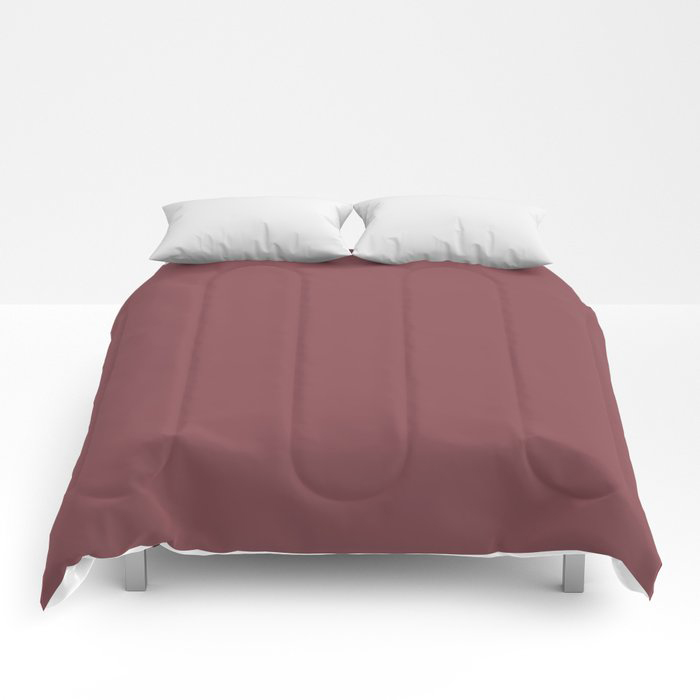 Succulent Red Wine Solid Color Pairs HGTV 2021 Color Of The Year Passionate HGSW2032 Comforters