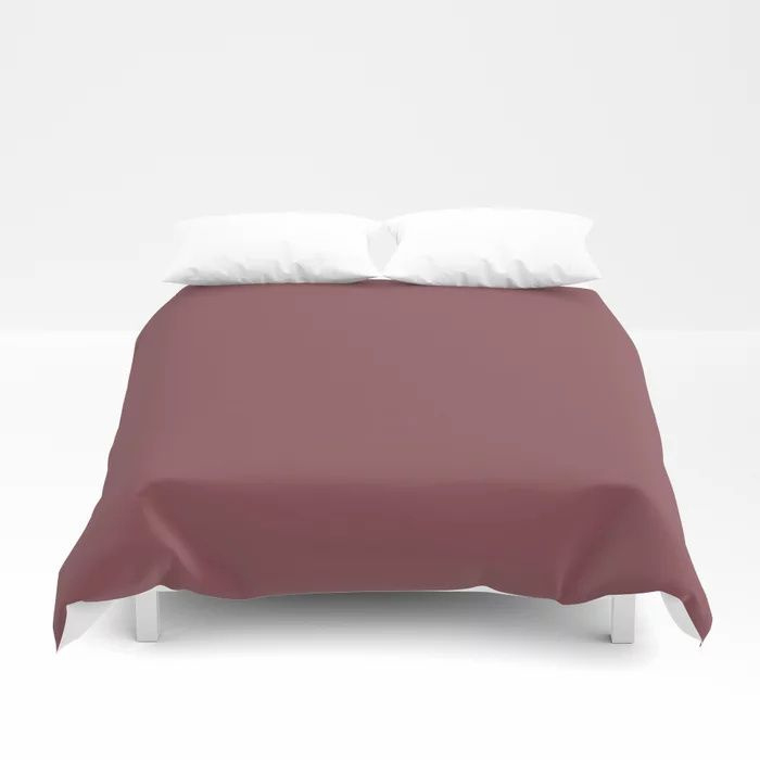Succulent Red Wine Solid Color Pairs HGTV 2021 Color Of The Year Passionate HGSW2032 Duvet Cover