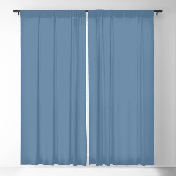 Summer Skies Blue Solid Color Pairs Farrow and Ball' s 2021 Color of the Year Ultramarine Blue W29 Blackout Curtain