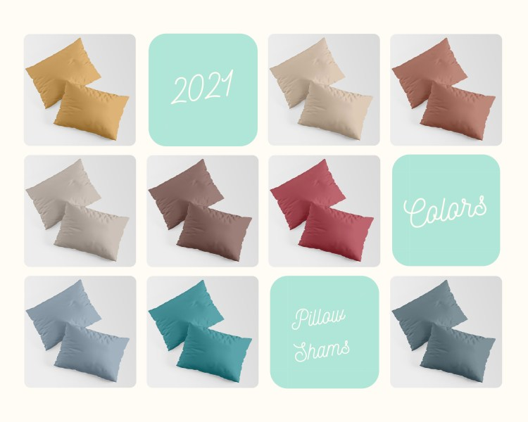 56 Color of the Years on Pillow Shams - Bedding