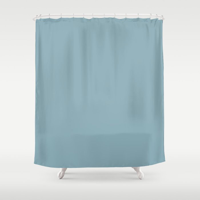 Angel Wings Blue Solid Color Pairs To Valspars 2021 Color of the Year Lucy Blue 5001-5C Shower Curtain