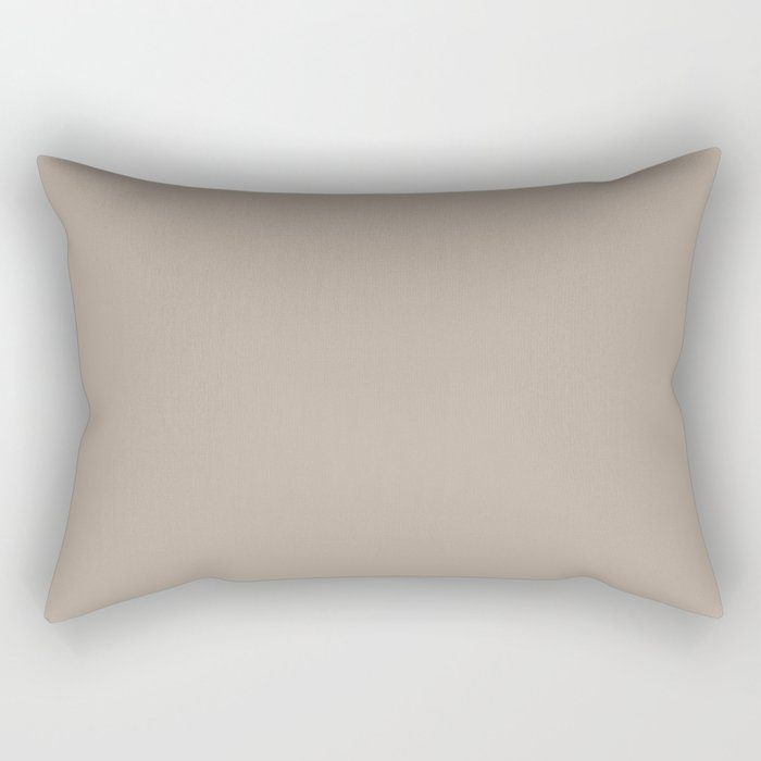 Comforting Brown Solid Color Pairs Farrow and Ball's 2021 Color of the Year Jitney 293 Rectangular Pillow