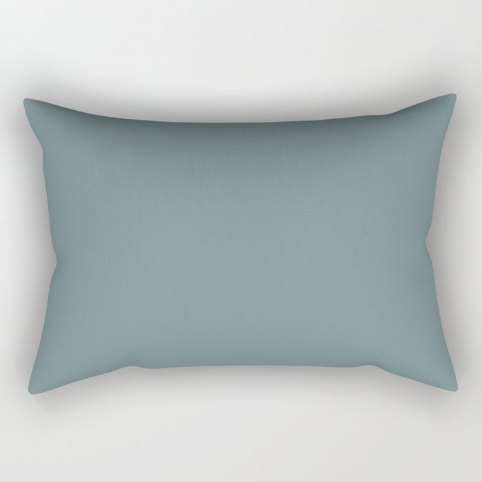Cool Tropical Blue-Green Solid Color Pairs To Benjamin Moore Aegean Teal 2136-40 2021 Color of the Year Rectangular Pillow
