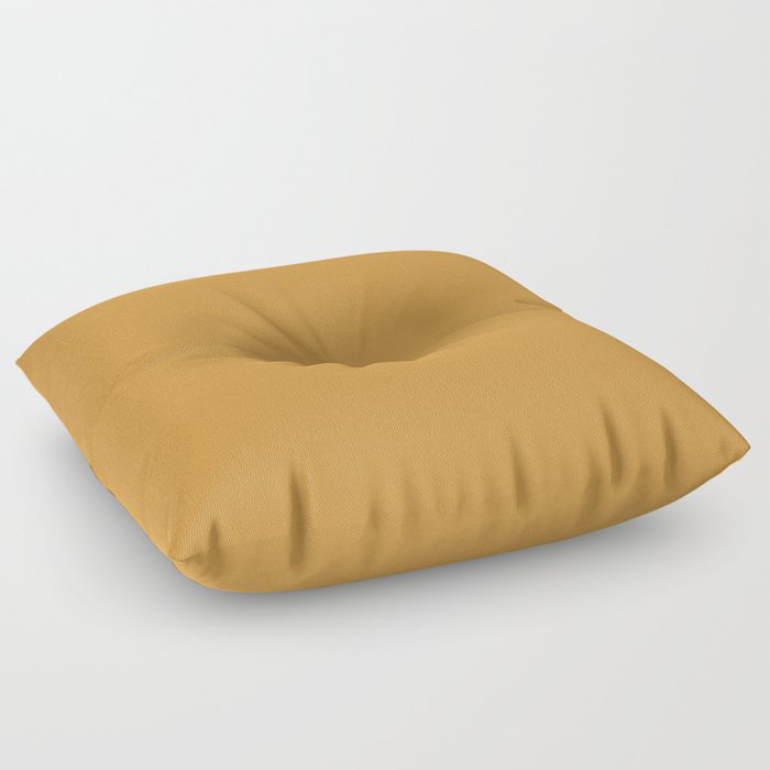 Cosy Deep Mustard Yellow Solid Color Pairs Farrow and Balls 2021 Color of the Year India Yellow 66 Floor Pillow