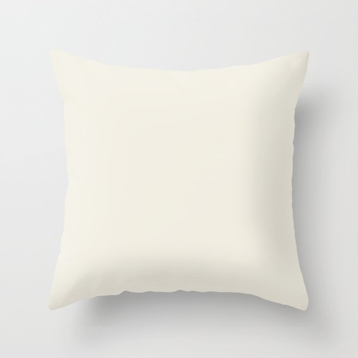 Cream White Solid Color Behr 2021 Color of the Year Accent Shade Swiss Coffee 12 Throw Pillow