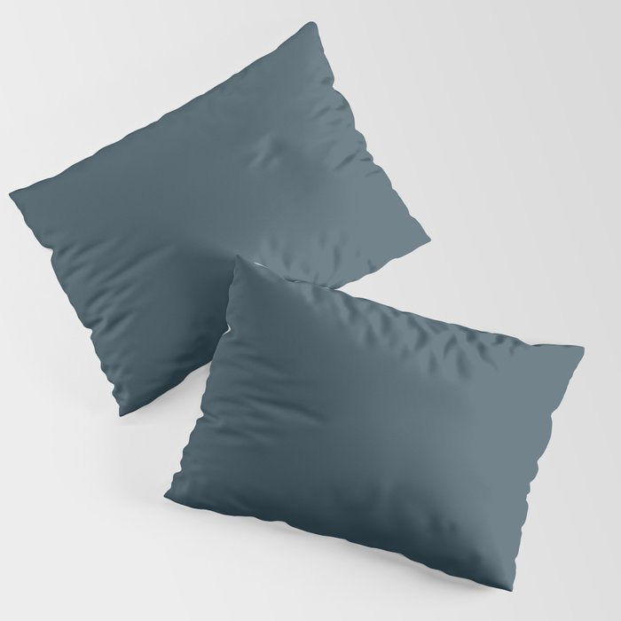 Dark Blue Grey Solid Color Pairs To Behr's 2021 Trending Color Nocturne Blue HDC-CL-28 Pillow Sham