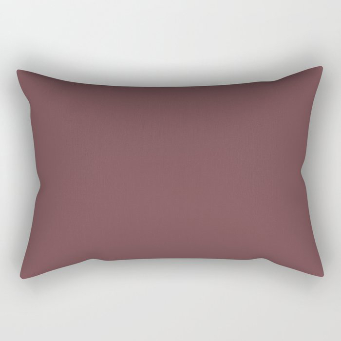 Dark Burgundy Red Solid Color Pairs 2021 Color of the Year Preference Red No.297 Rectangular Pillow