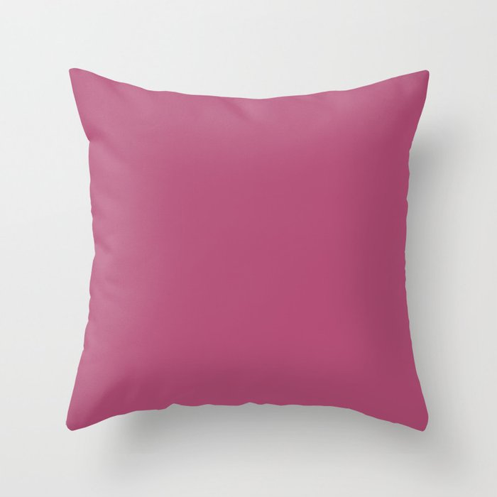 Dark Pink Solid Color Behr 2021 Color of the Year Accent Shade Diva Glam P120-6 Throw Pillow