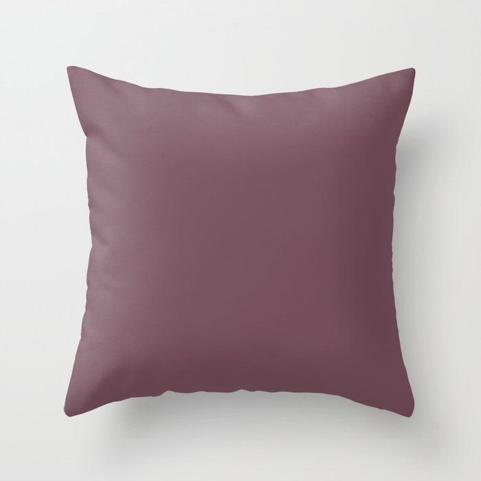 Dark Purple Solid Color Behr 2021 Color of the Year Accent Shade Fine Wine S120-7 Throw Pillow