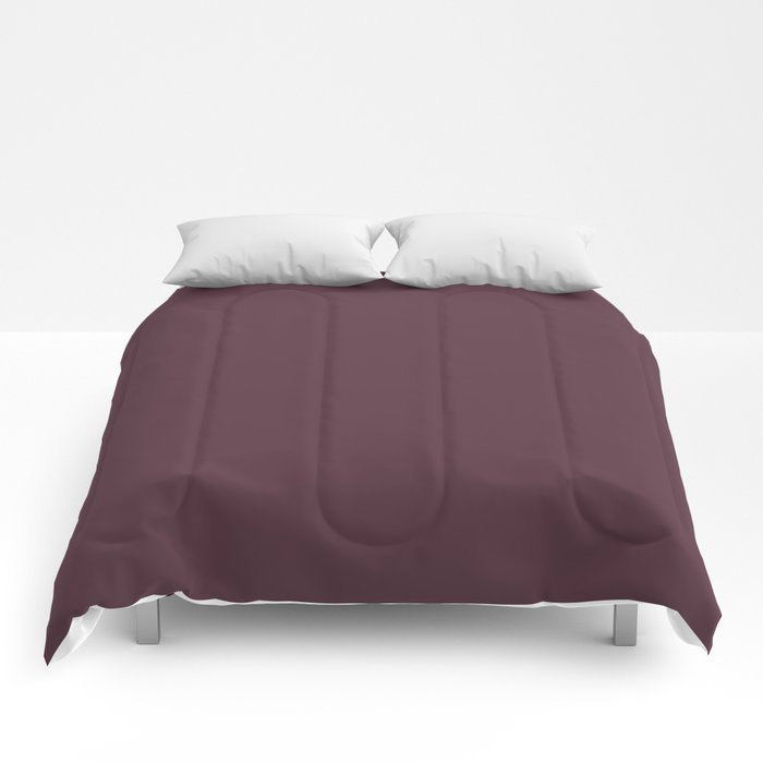 Deep Amethyst Purple Solid Graham and Brown 2021 Color of the Year Epoch Comforters
