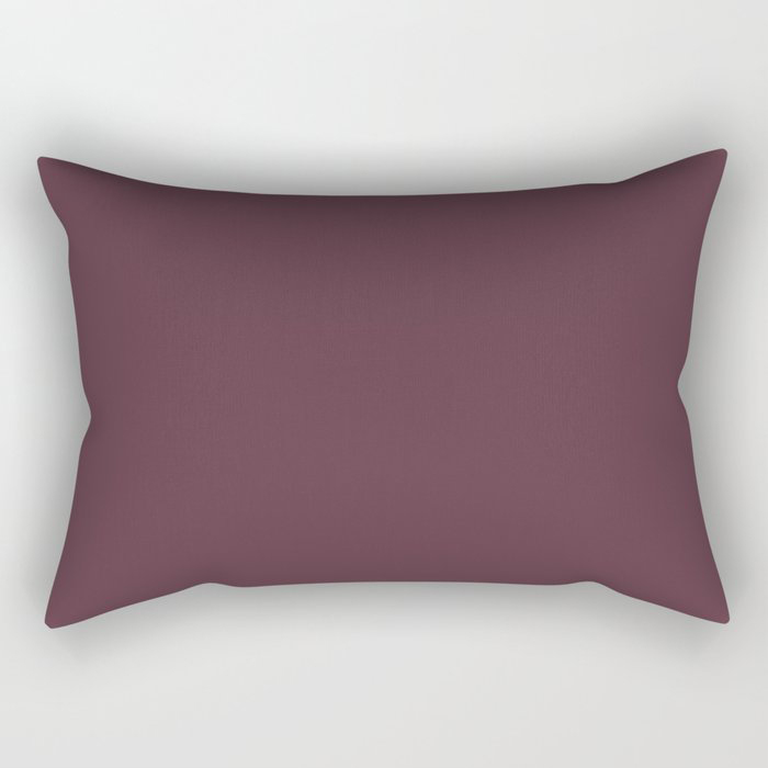 Deep Amethyst Purple Solid Graham and Brown 2021 Color of the Year Epoch Rectangular Pillow