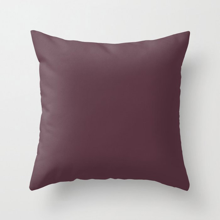 Deep Amethyst Purple Solid Graham and Brown 2021 Color of the Year Epoch Throw Pillow
