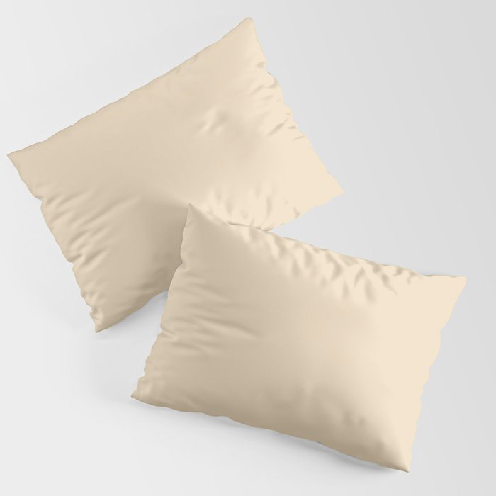 Delicate Pastel Peach Solid Color Pairs To Valspars 2021 Color of the Year Soft Candlelight 3005-6C Pillow Sham