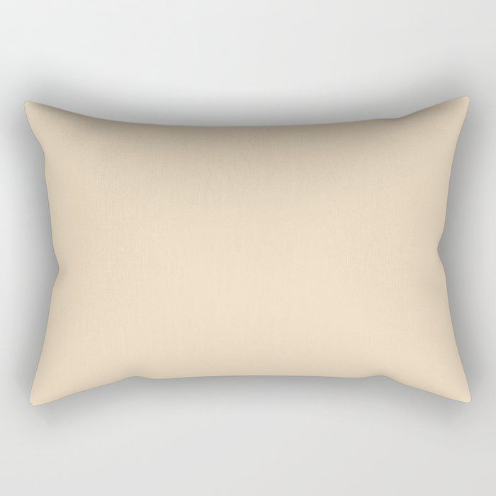 Delicate Pastel Peach Solid Color Pairs To Valspars 2021 Color of the Year Soft Candlelight 3005-6C Rectangular Pillow