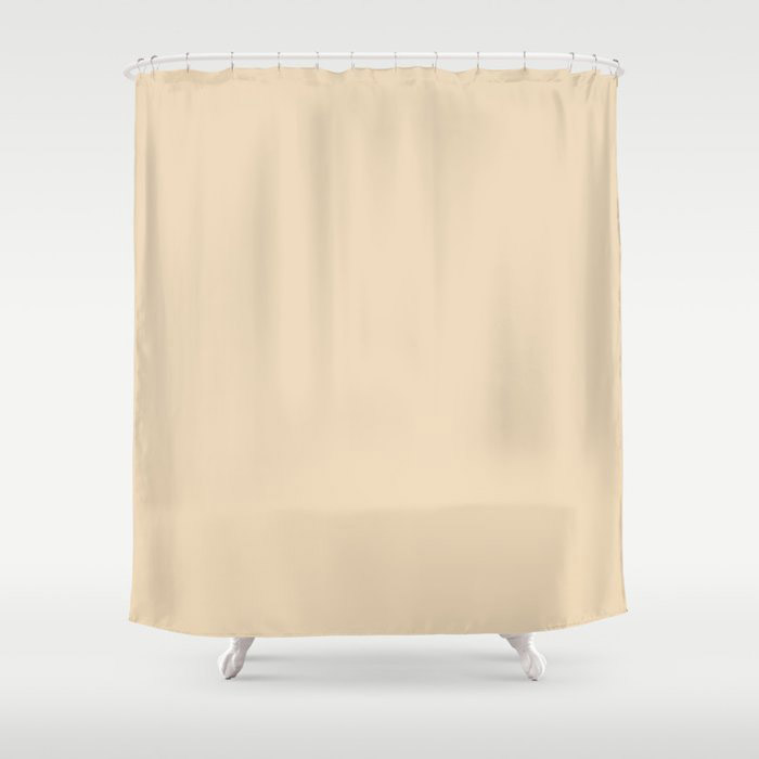 Delicate Pastel Peach Solid Color Pairs To Valspars 2021 Color of the Year Soft Candlelight 3005-6C Shower Curtain