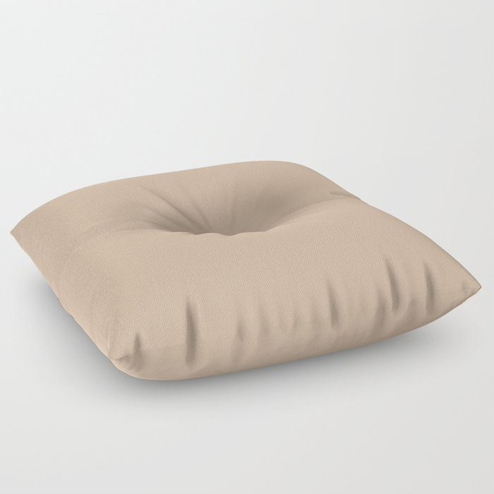 Down To Earth Beige Solid Color Pairs To Valspars 2021 Color of the Year Maple Leaf 2008-8B Floor Pillow