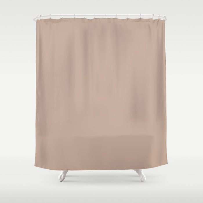Lace Pastel Pink Solid Color Pairs Farrow and Ball 2021 Color of the Year Dead Salmon No.28 Shower Curtain