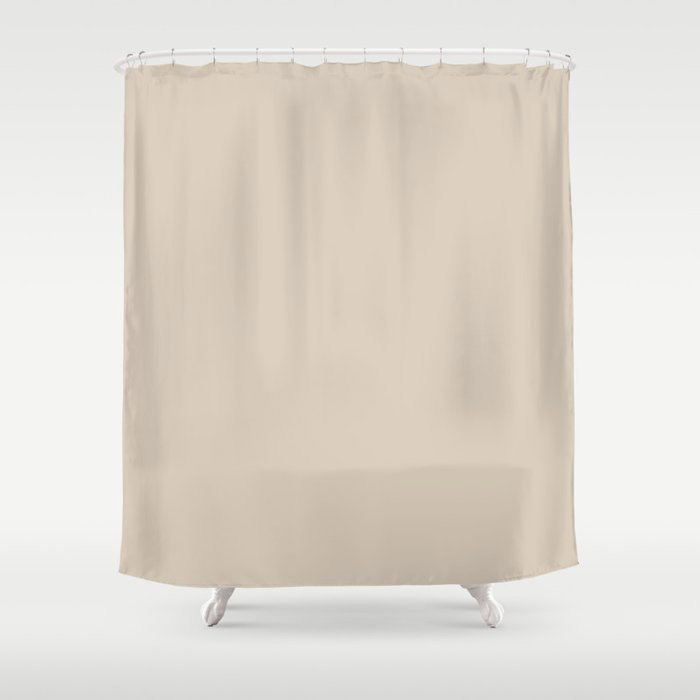Light Beige Solid Color Jolie 2021 Color of the Year Uptown Ecru Shower Curtain