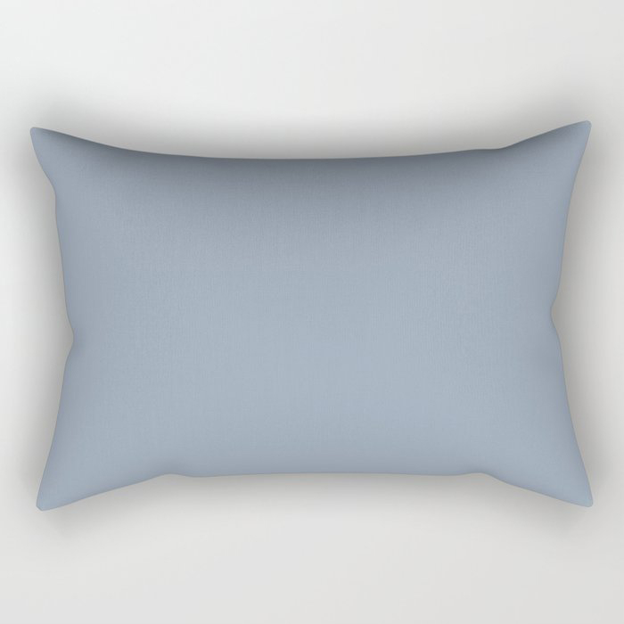 Mid Tone Sky Blue Solid Color Pairs To Valspars 2021 Color of the Year Blissful Blue 4005-3C Rectangular Pillow