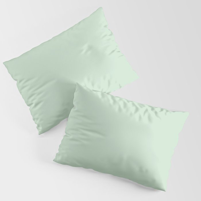 Minty Fresh Green Solid Color Pairs To Behr's 2021 trending color Wishful Green M410-2 Pillow Sham