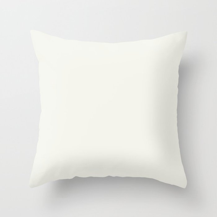 Off White Solid Color Behr 2021 Color of the Year Accent Shade Polar Bear 75 Throw Pillow