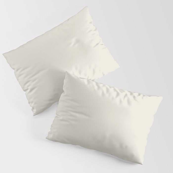 Off White Solid Color Pairs To Behr's 2021 Trending Color Smoky White BWC-13 Pillow Sham