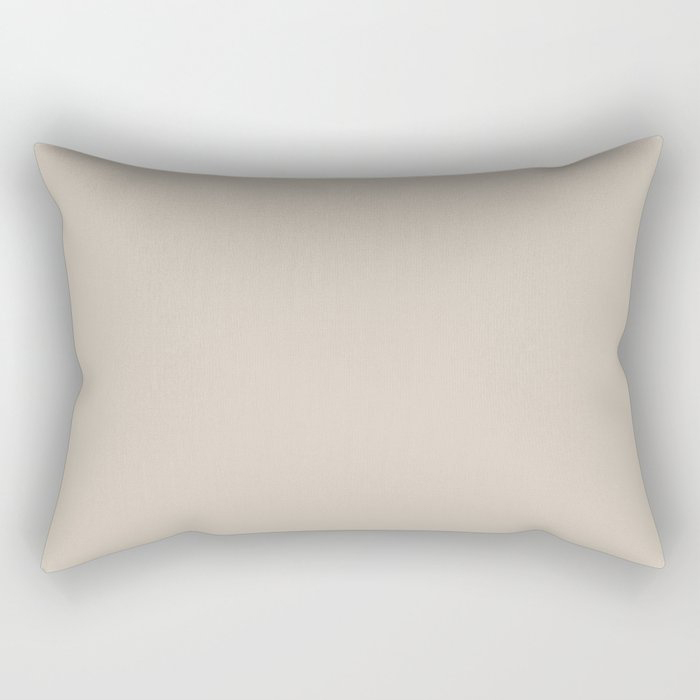 Pale Taupe Solid Color Pairs To Behr's 2021 Trending Color Almond Wisp PPU5-12 Rectangular Pillow