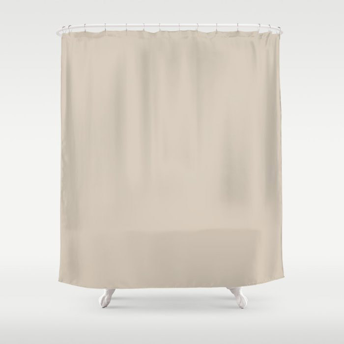 Pale Taupe Solid Color Pairs To Behr's 2021 Trending Color Almond Wisp PPU5-12 Shower Curtain
