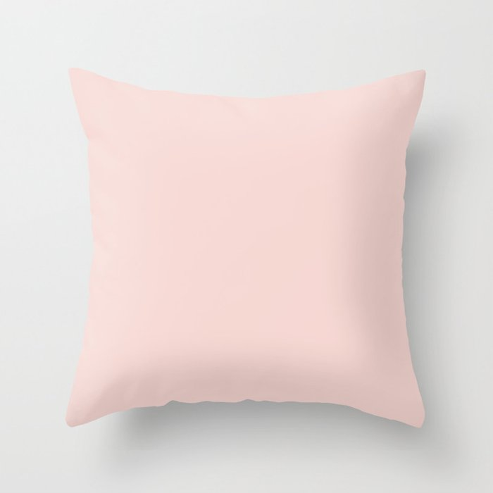 Pastel Pink Solid Color Behr 2021 Color of the Year Accent Shade Cupcake Pink M160-1 Throw Pillow
