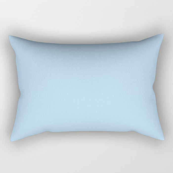 Pastel Sky Blue Solid Color Pairs to 2021 Color of the Year Wild Blue Yonder by Dunn and Edwards Rectangular Pillow