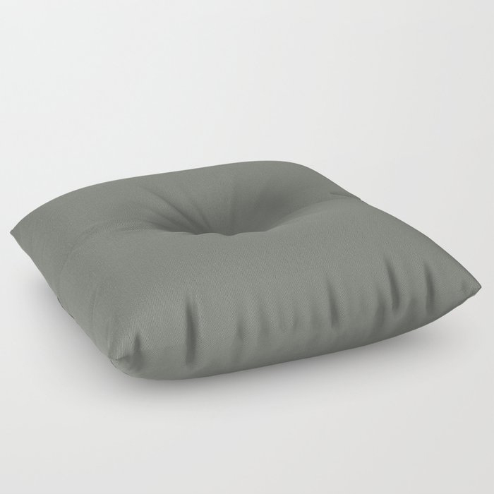 Rich and Moody Green Solid Color Pairs To Pratt & Lambert 2021 Color of the Year Contemplative 420F Floor Pillow