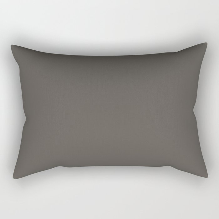 Root Brown Grey Solid Color Sherwin Williams 2021 Color of the Year Urbane Bronze SW 7048 Rectangular Pillow
