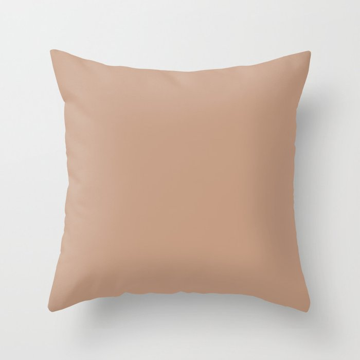 Sand Storm Beige Solid Color Pairs To Behr 2021 Color of the Year Canyon Dusk S210-4 Throw Pillow