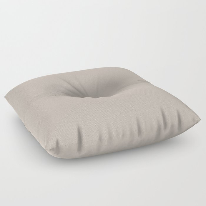 Soft Beige Brown Solid Color Pairs To Valspars 2021 Color of the Year Gallery Grey 2006-10B Floor Pillow