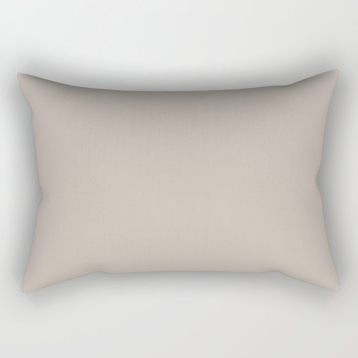 Soft Beige Brown Solid Color Pairs To Valspars 2021 Color of the Year Gallery Grey 2006-10B Rectangular Pillow