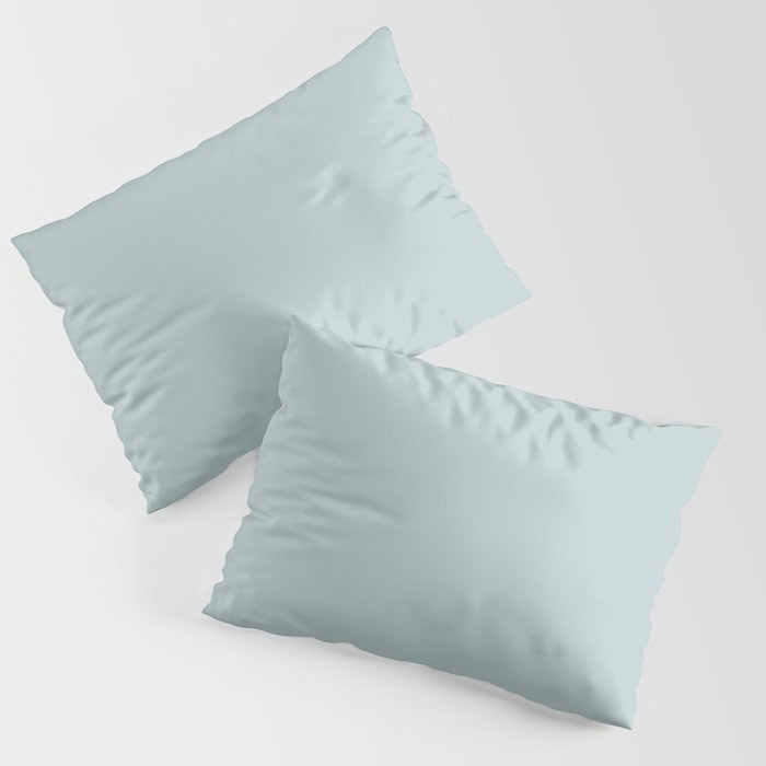 Soft Pastel Blue Solid Color Pairs To Behr's 2021 Trending Color Dayflower MQ3-54 Pillow Sham