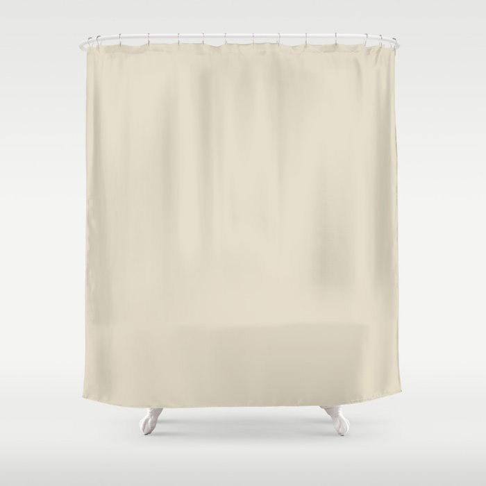 Softened Khaki Light Brown Solid Color Pairs To Valspars 2021 Color of the Year Unforgettable 7003-2 Shower Curtain