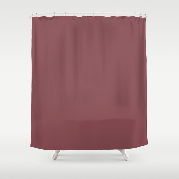 Succulent Red Wine Solid Color Pairs HGTV 2021 Color Of The Year Passionate HGSW2032 Shower Curtain
