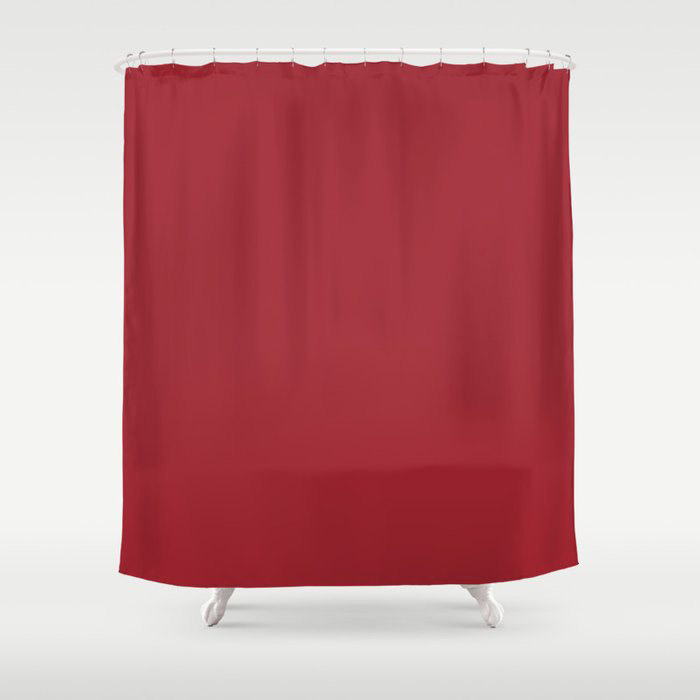 The Fire Within Red Solid Color 2021 Pairs Rustoleum's 2021 Color of the Year Satin Paprika Shower Curtain