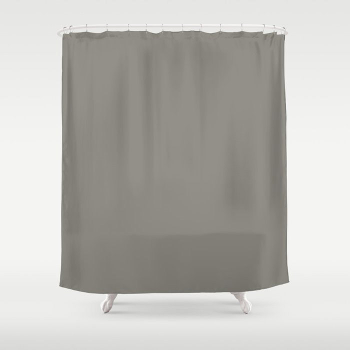 Weathered Wood Grey Solid Color Behr's 2021 Trending Color Barnwood Gray PPU24-07 Shower Curtain