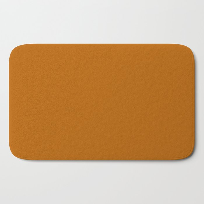 Best Seller Colors of Autumn Golden Brown Single Solid Color - Accent Hue Shade Colour Bath Mat 2