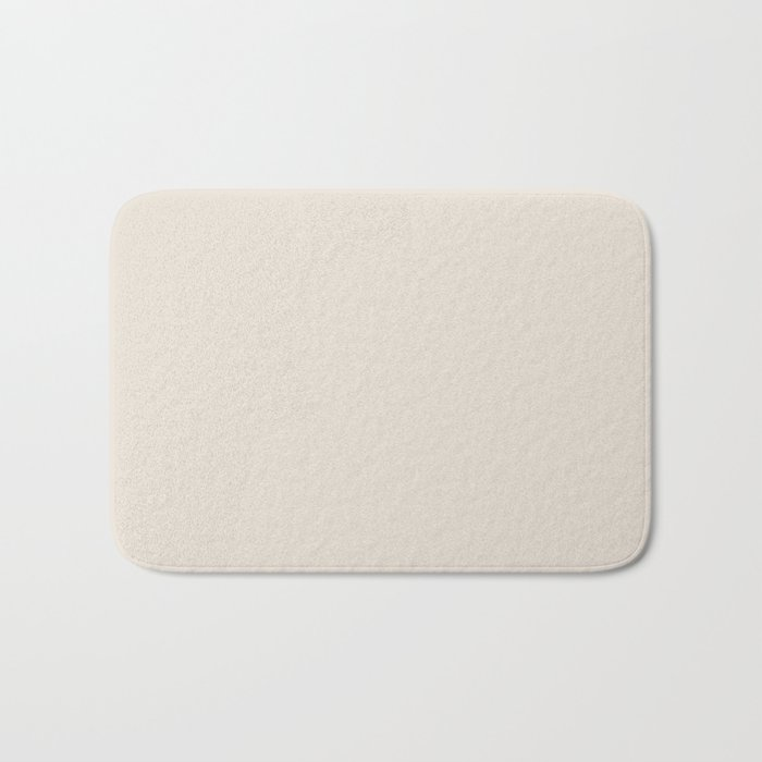 Best Seller Sherwin Williams Colors of 2019 Porcelain (Off White Cream Ivory) SW 0053 Solid Color Bath Mat