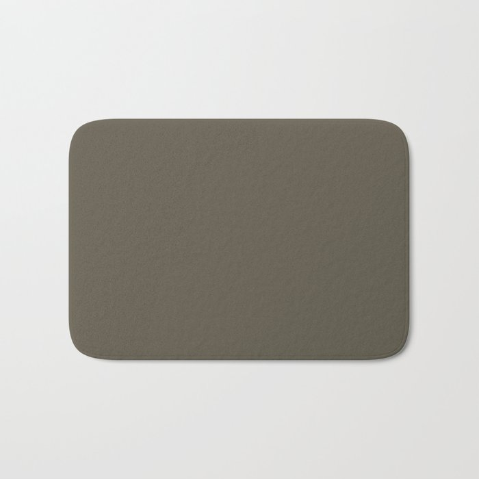 Dark Olive Green Brown Solid Color Pairs To Sherwin Williams Garden Gate SW 6167 Bath Mat